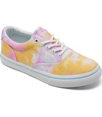 polo ralph lauren big girls tie-dye thornton casual sneakers from finish line