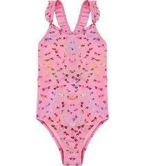 traje de baño uv30 mariposas multicolor h2o wear