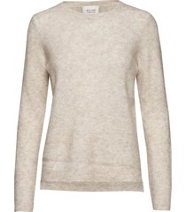 brook knit new o-neck gebreide trui crème second female
