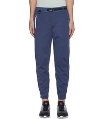 water resistant buckle belt cuffzip pants