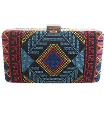 bolsa real arte clutch bordado ã‰tnico multicolorida - multicolorido - feminino - sintã©tico - dafiti