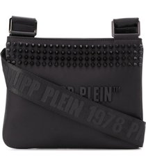 philipp plein bolsa tiracolo com detalhe de tachas - preto