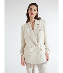 motivi blazer jacquard xmas edition donna bianco