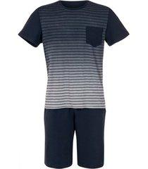 pyjama's / nachthemden lisca pyjama shorts t-shirt attis blauw men