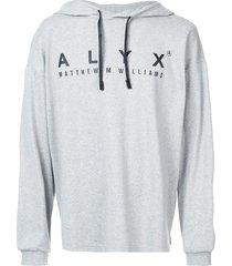 1017 alyx 9sm logo-print hoodie - grey