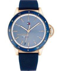 reloj análogo azul tommy hilfiger
