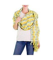 cotton shawl, 'atitlan diva' (guatemala)
