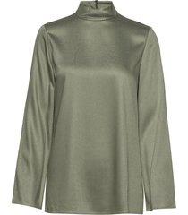 mock nk top b.drape blouse lange mouwen groen theory