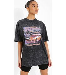 acid wash gebleekt nevada t-shirt, charcoal