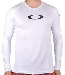 camiseta de lycra oakley blade surf ls - masculino
