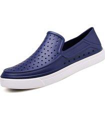 taglia 40 3ad81 722bf scarpe da beachwear traspiranti per uomo hole scarpe da spiaggia in slip  sui sandali casual