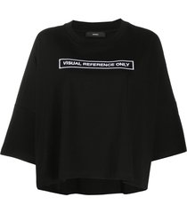 diesel cotton poncho t-shirt - black
