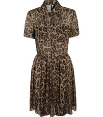 dsquared2 animal print buttoned dress
