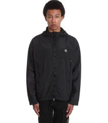 stone island casual jacket in black polyamide