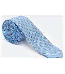 gravata slim listrada | preston field | azul | u
