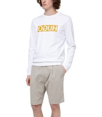 hugo men's reverse logo sweatshirt