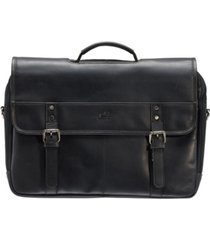 "men's double compartment briefcase with rfid secure pocket for 15.6"" laptop and tablet"