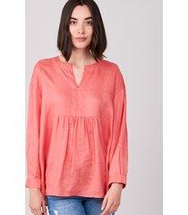 blouse van zuiver linnen