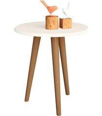 mesa de canto lateral lyam decor off-white