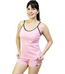 pijama conjunto regata de alca e short feminino - feminino