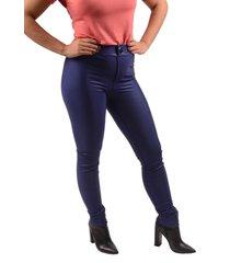 calça benne legging com recorte azul royal