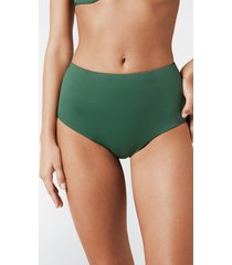 calzedonia high-rise shaping swimsuit bottom indonesia woman green size 4