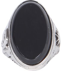 alexander mcqueen ring with glass stone