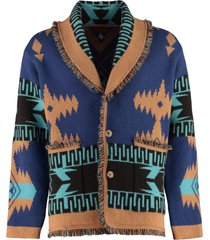 alanui wool and cashmere blend cardigan