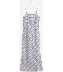 lou & grey lou & grey washed stripe strappy linen maxi dress