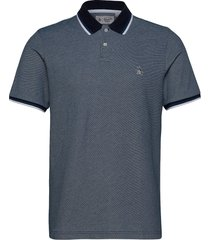 birdseye jacquard polo shirt polos short-sleeved blå original penguin
