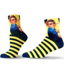 unisox unisex americana rosie the riveter quarter socks
