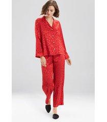 natori decadence pajamas, women's, red, size m natori