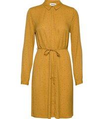 anastacia print dress knälång klänning gul modström