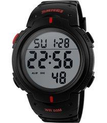 reloj digital estilo militar skmei 1068 - color rojo