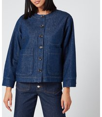 a.p.c. women's lucille jacket - indigo - l