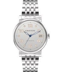 grayton women's classic collection silver tone stainless steel bracelet watch 36mm