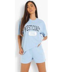 oversized overdye west coast t-shirt, light blue