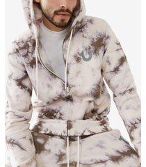 men's tie dye zip up hoodie