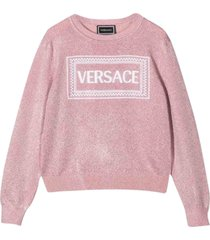 young versace vintage sweater with logo