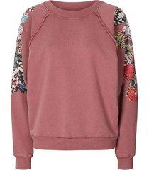 sweater met mouwversieringen tate  bordeaux