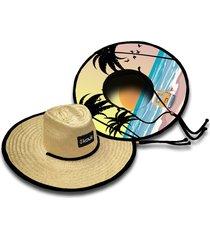 chapéu de palha kouk beach girl