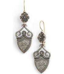 women's konstantino 'silver classics' shield drop earrings