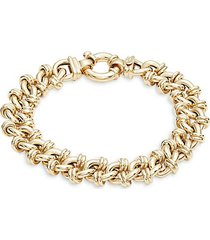 14k yellow gold chunky chain bracelet