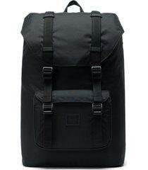 men's herschel supply co. little america - mid volume black backpack - black