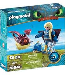 astrid con traje volador y globoglob 70041 multicolor playmobil