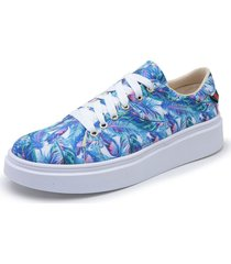 sapatenis top franca shoes floral