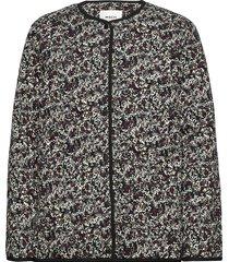 glorie jacket aop blazers bouclé blazers zwart moss copenhagen