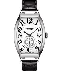 men's tissot heritage porto leather strap watch, 42.5mm x 31mm