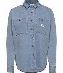 worker shirt overhemd met lange mouwen blauw lee jeans