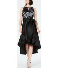 r & m richards embellished high-low gown
